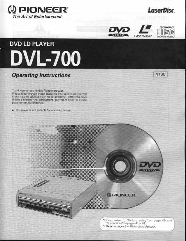 pioneer dvl 700 rh laserdiscarchive co uk JVC Car CD Player Manual Classic DVD Player Manual